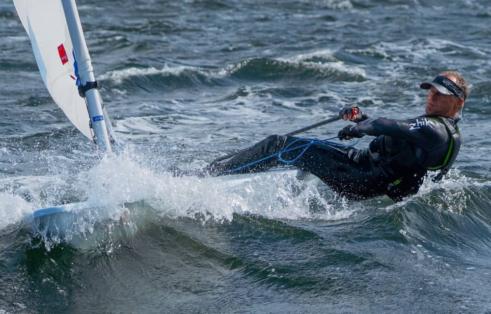 World Champion Sailor Sailing with Repaired Knee