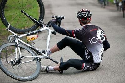 Don't put away your bike after breaking your clavicle