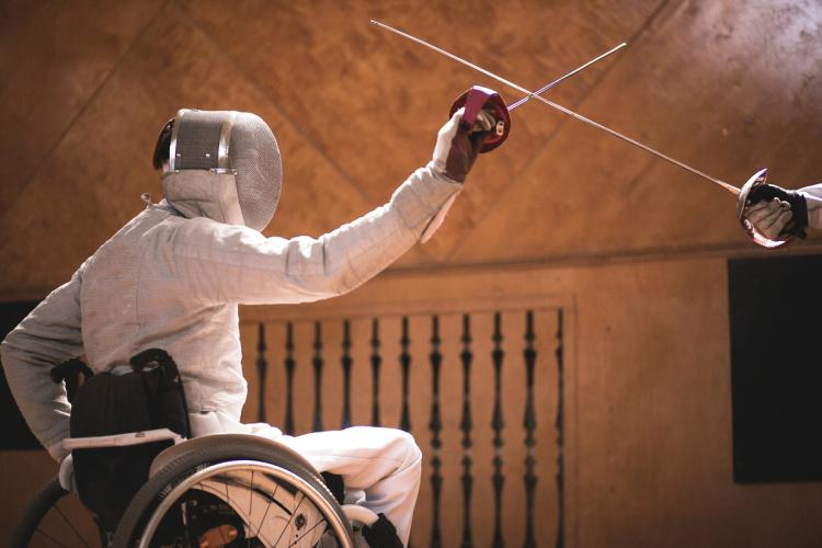 Wheelchair Olympian Fencing